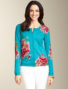 Has my name all over it. Talbots - Water-Flower Cardigan   Cardigan Shop   Misses