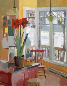 Carole Rabe - Artist Red Amaryllis Oil on canvas, 20 x 16 Paintings I Love, Beautiful Paintings, Art Aquarelle, Window Art, Art Abstrait, Room Paint, Painting Inspiration, Painting & Drawing, Illustration Art