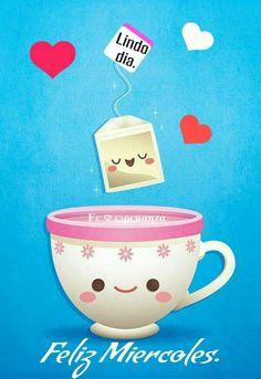 Shop Kawaii Tea Time Card created by casakawaii. Tea Puns, Tea Quotes, Morning Thoughts, Mr Wonderful, Good Morning Good Night, Kawaii Shop, Happy Wednesday, Im Trying, Christmas Wishes