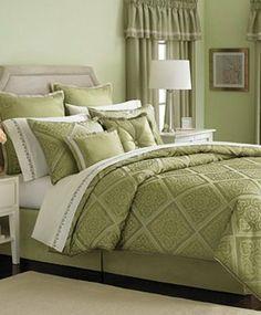 24 Piece Bedroom Set | Martha Stewart Seville Green 24 Piece Queen Comforter Set | eBay