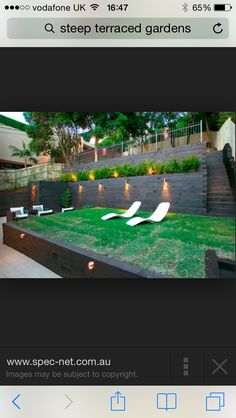Sloped backyard deck ideas backyard decks on a hill tiered garden ideas best tiered landscape ideas on sloped backyard landscaping home interior designs Steep Hillside Landscaping, Steep Backyard, Terraced Backyard, Terraced Landscaping, Small Backyard Landscaping, Backyard Garden Design, Backyard For Kids, Backyard Patio, Landscaping Ideas