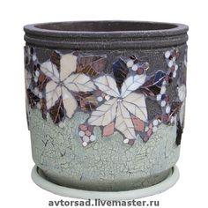 Beautiful mosaic flower pot