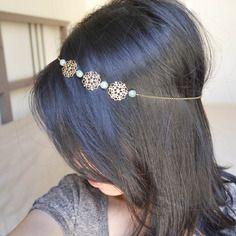 Headband bijoux de cheveux aby aventurine