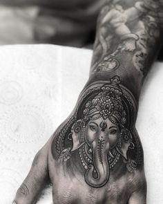 Little Ganesh for Jeeves today  Sponsored by @fusion_ink @fusionink_ca and @killerinktattoo
