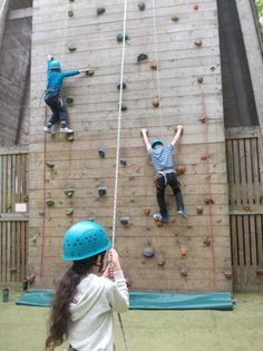 Climbing with our friends in year six camp!