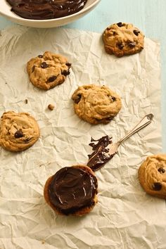 Peanut Butter Chocolate Chip Sandwich Cookies