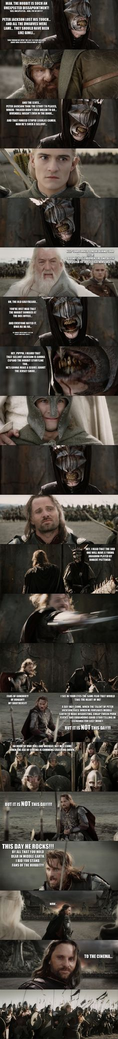 This is awesome! The Hobbit - Aragorn vs the Troll of Sauron... by yourparodies on deviantART