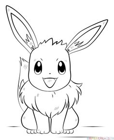 How to draw Eevee the Pokemon | Step by step Drawing tutorials