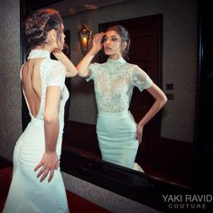 In LOVE with this absolutely divine look from our FW 2015 Bridal Collection. #yakiravid #yakiravidbridal