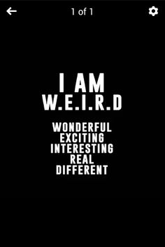 And I am A.W.S.O.M.E