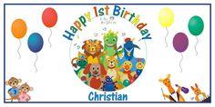 Personalized Baby Einstein Big Birthday Party Vinyl Banner Sign Decoration #BirthdayChild