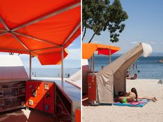 mobile beach library by matali crasset in istres, france