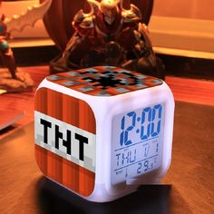 Touch light Minecraft 2015 Alarm Clock with LED cartoon anna elsa action & toy figures star wars spiderman batman Toys Please Allow 12 to 30 days shipping Minecraft Clock, Tnt Minecraft, Minecraft Gifts, Desk Clock, Flip Clock, Digital Alarm Clock, Gifts For Kids, Touch, Led