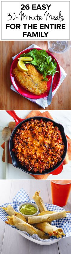 The Dinnertime Crunch: 26 Easy 30-Minute Meals For the Entire Family
