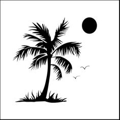 The Crafter's Workshop - 12 x 12 Doodling Templates - Palm Tree at Scrapbook.com $7.49