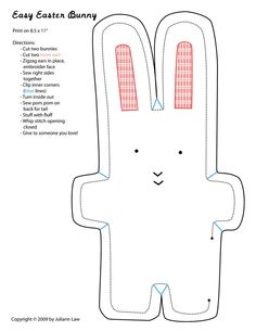 All sizes   Easy Easter Bunny Pattern   Flickr - Photo Sharing!