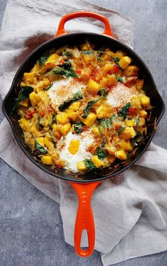 This Fall Hash Brown Breakfast Skillet is packed with all of the quintessential flavors of autumn! It's the perfect hearty …