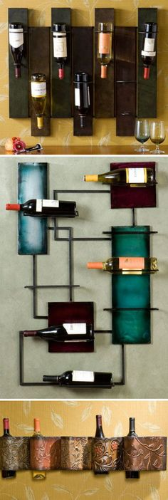 Wine Storage Wall Art Sculpture <3 {great way to store your wine}