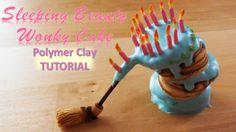 Miniature Polymer Clay Disney's Sleeping Beauty Aurora Wonky Cake Tutori...