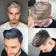 20 Awesome Hair Color Ideas for Men in 2018 - Men's Hairstyles Mens Medium Length Hairstyles, Side Swept Hairstyles, Men's Hairstyles, Temp Fade Haircut, High Fade Haircut, Braids With Fade, Braids For Short Hair, Mens Hair Colour, Cool Hair Color