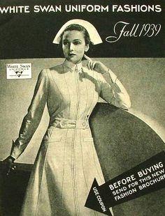 Vintage nursing uniform. I wore a lot of white swan uniforms after I graduated from nurses training.