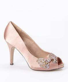 Another great find on #zulily! Nude Adelfa Leather Peep-Toe Pump by Menbur #zulilyfinds