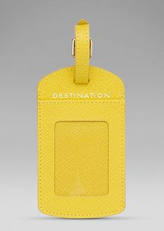 Panama Luggage Label   www.smythson.com