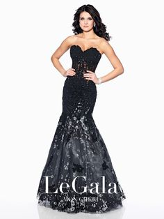 Le Gala by Mon Cheri 116513 Mermaid Corset Top Prom Dress Evening Gown