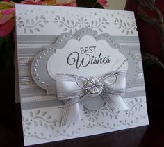 Best Wishes card. Beautiful and quick and easy.
