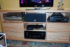 Custom made audio & video furniture. Buenos Aires, Argentina.