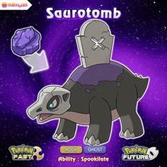 The Plate Fossil has been restored! Here's Saurotomb, the Burrial Pokemon! Pokemon Show, Oc Pokemon, Pokemon Fake, Pokemon People, Pokemon Pokedex, Pokemon Memes, Pokemon Fan Art, Pokemon Stuff, Blue Jurassic World