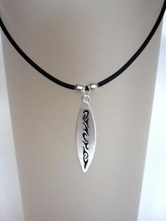 Cool Surfboard Necklace  (Free Shipping) by BeadInspiredSA, $14.00