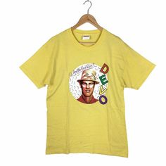 Excited to share this item from my shop: Vintage DEVO T-shirt Vintage Band Tees, Vintage Shirts, Vintage Outfits, L Shape, Personalized T Shirts, Used Clothing, 1990s, Cool Shirts, Thrifting