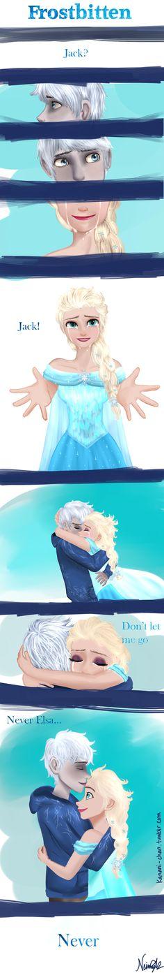 Frostbitten: Elsa and Jack meet again by NeimyKao.deviantart.com on @deviantART