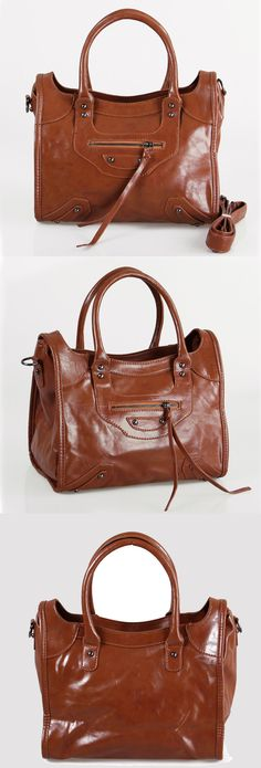 Stylish zip closure studded hand bag from BuyTrends.com