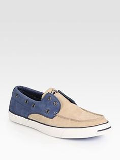 Converse - Jack Purcell Two-Tone Laceless Boat Shoes