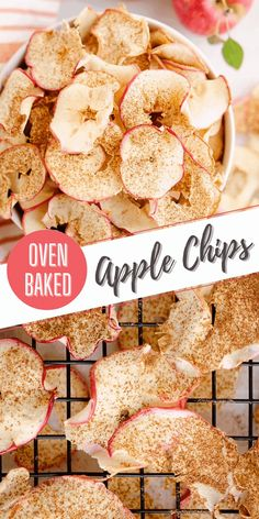 These simple oven baked apple chips are a healthy and delicious snack with no added sugar and seasoned with apple pie spice. This homemade recipe is great for gifting during the holidays or a fantastic way to preserve your apple harvest for months to come! #AppleChips #FoodGift #DehydratedApples Dehydrated Apples, Baked Apples, Best Apple Recipes, Favorite Recipes, Easy Desserts, Dessert Recipes, Apple Pie Spice, Apple Chips, Oven Baked