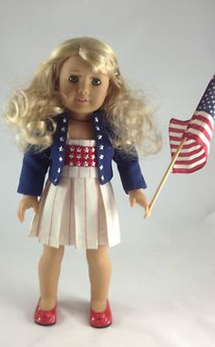 4th of July 3 Piece Outfit, Sundress, Lined Jacket and Shoes, by mjsdollboutique2012 | eBay  $24.00