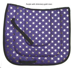 Purple Saddle Pad with Gold Stars