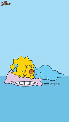 Maggie Simpson sleeping lock-screen phone wallpaper background – Best of Wallpapers for Andriod and ios Simpson Wallpaper Iphone, Cartoon Wallpaper Iphone, Iphone Background Wallpaper, Cute Disney Wallpaper, Cute Cartoon Wallpapers, Aesthetic Iphone Wallpaper, Aztec Wallpaper, Iphone Backgrounds, Wallpaper Wallpapers