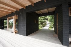 Architizer is how architects find building-products. Lakeside Cottage, Modern Cottage, Lake Cottage, Timber Architecture, Amazing Architecture, Villas, Outside Paint, Summer Cabins, Shed Homes