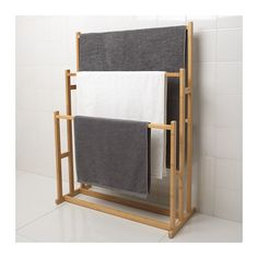 Decorating With Bathroom Towels Bathroom Ladder, Bathroom Towel Decor, Floating Shelves Bathroom, Wooden Bathroom, Bathroom Storage, Bathroom Ideas, Ikea Towels, Wooden Chair Plans, Woodworking Plans