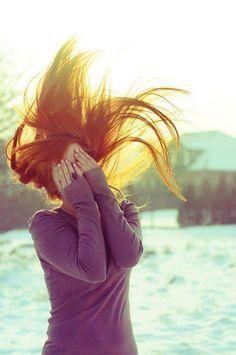 hair. ginger. purple. sun. happy. #redheads