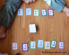 We love this addition game using flash cards - simple to play, but lots of math practice! We think flash cards games are much more fun than than drill sessions. Addition Games, Math Addition, Addition Flashcards, Math Flash Cards, Math Fact Practice, Build Math, Math Fact Fluency, Math Games For Kids, Kids Math