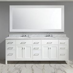 Design Element London Stanmark 84 in. Double Bathroom Vanity Set