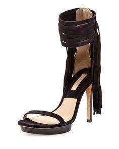 Daphne Suede Fringe Sandal by Michael Kors at Neiman Marcus.