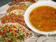 Tricolor Uthappam