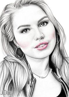 Custom pencil portrait. 16x20. Black and white by JoDiquezArt