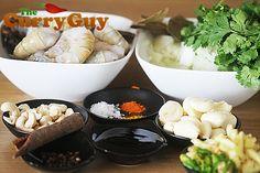 Prawn Balti Recipe - Prawn and Coriander Balti by The Curry Guy Balti Recipes, Best Selling Cookbooks, Tamarind, Coriander, Cinnamon Sticks, Garlic, Curry, Homemade