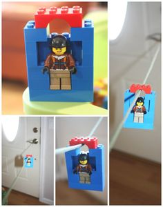 Lego zip line homemade simple toy biplane slopes angles gravity weight